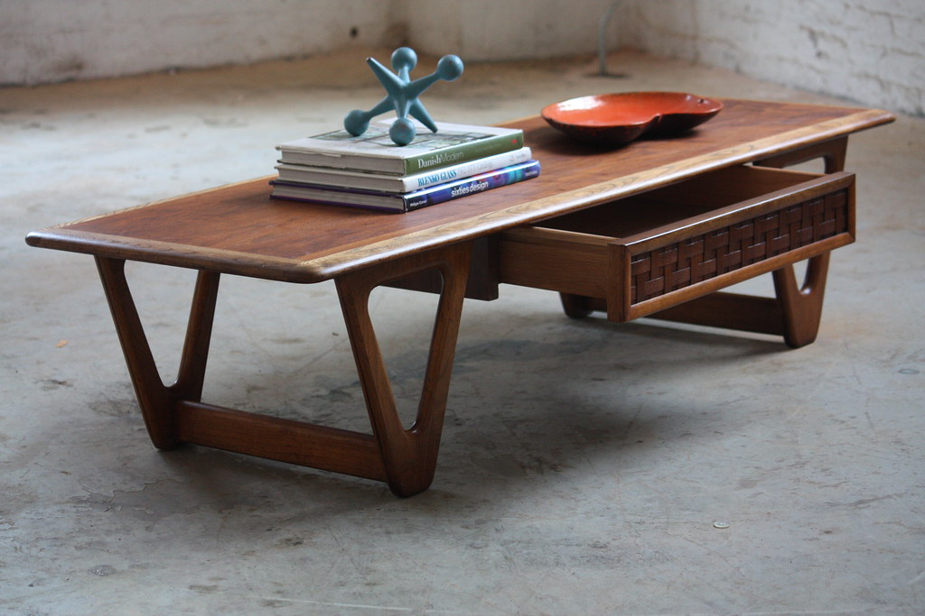 Photogenic Mid Century Modern Lane Perception Walnut Oak Flickr - Mid century oak coffee table