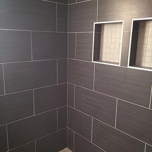 12 X 24 2 X 2 Porcelain Tile Shower Madisontile Marble