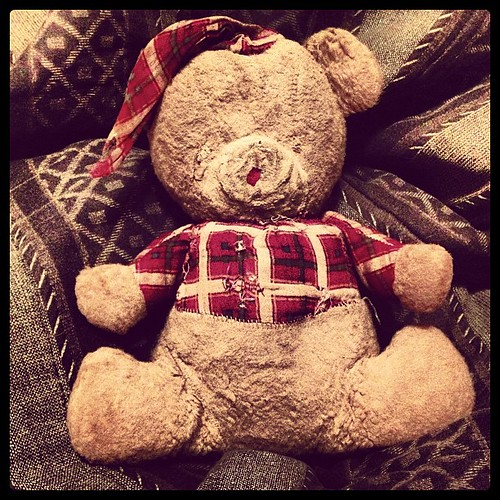 Found Teddy Bear. Aged from 1964. Well used but still loved. :-) | by mcgilliland