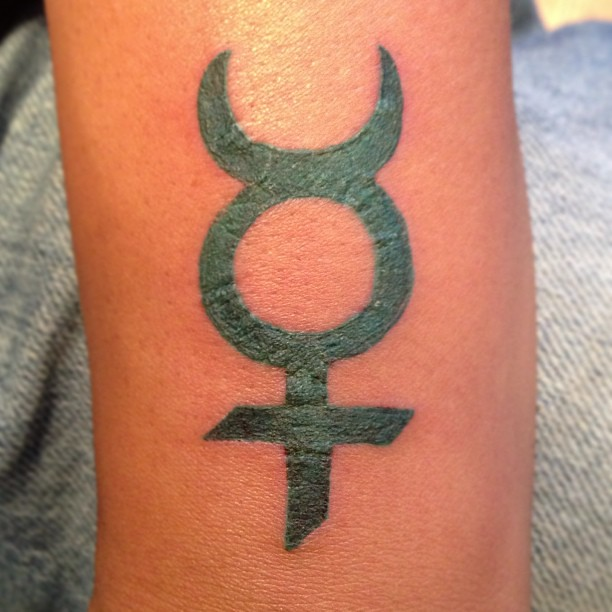 My Newest Tattoo Mercury Astrology Planetary Horoscop Flickr