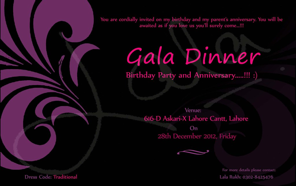 Invitation card for a gala dinner lala rukh flickr invitation card for a gala dinner by lrkhokhar stopboris Choice Image