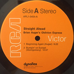 BRIAN AUGER'S OBLIVION EXPRESS:STRAIGHT AHEAD(LABEL SIDE-A)