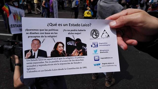 Ateos Marcha Orgullo Gay Bogotá 2016