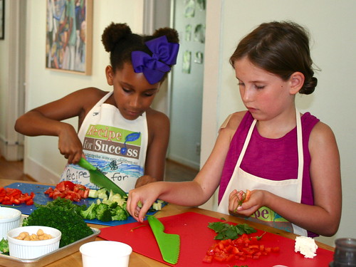 Practicing knife skills with fresh veggies | by Recipe4Success