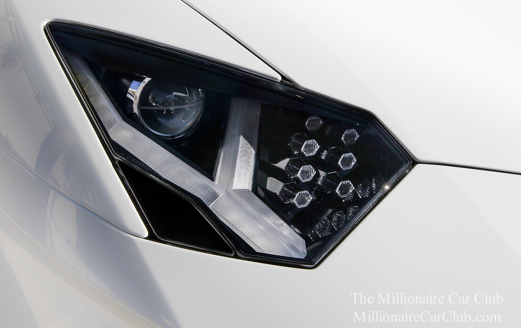 Lamborghini aventador headlights