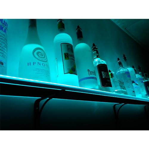 Wall Mounted Led Lighted Liquor Bottle Shelf By Armana Pro