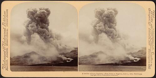 A terrible volcanic explosion - Mont Pelée in eruption, Ju ... - photo#24