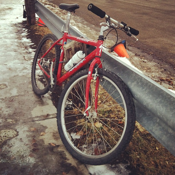 Finally got my new (to me) ride on the road for the season. #yycbike