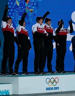 Sochi Ru.Feb22-2014.Winter Olympic Games.Medal Prest.gold Team Canada.WCF/michael burns photo | by seasonofchampions