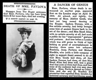 23rd January 1931 - Death of Anna Pavlova | by Bradford Timeline
