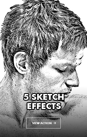 Gorgeuos Pencil Drawing Photoshop Action