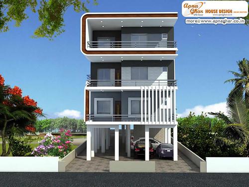 3 Bedrooms Independent Floor Design 3 Bedrooms