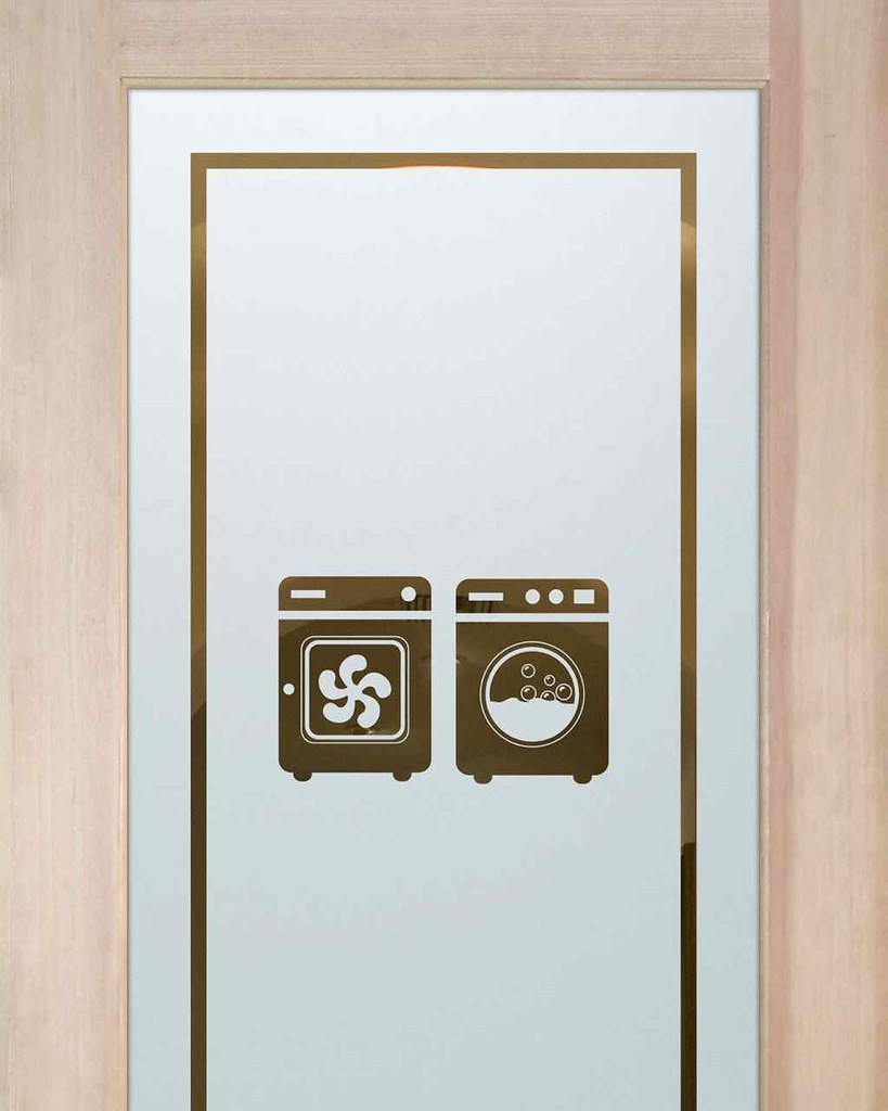 Laundry Room Doors Frosted Glass Washer Dryer Customize Flickr