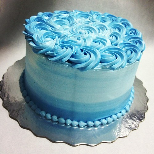 Blue And White Birthday Cakes