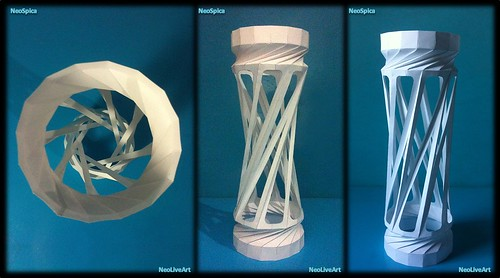 Helix Column 2 Collapsible Section - Paper Lantern 1/2 | by NeoSpica / NeoLiveArt