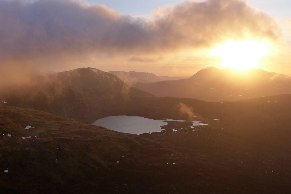 Sunset from Beinn Liath Mhor Fannaich