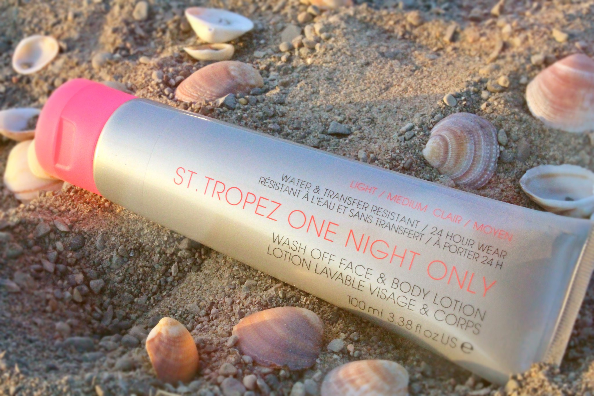St. Tropez One Night Only Wash Off Face & Body Lotion (in Light/Medium)