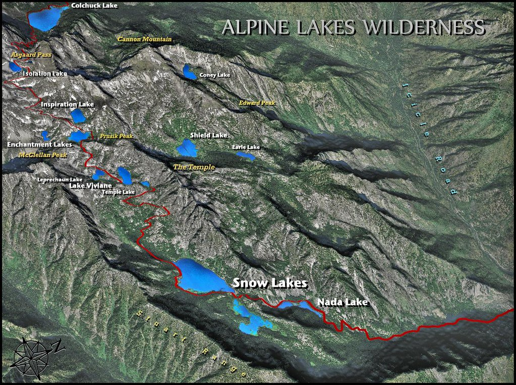 The Enchantment Lakes Trail Map (draft) | Alpine Lakes Wilde… | Flickr