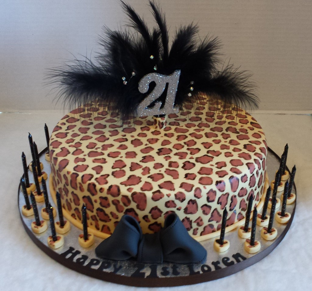 21st Leopard Print Birthday Cake Liz Flickr