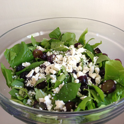 grape, goat cheese and homegrown greens | by lesley zellers