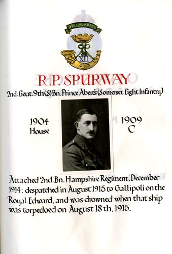 Spurway, Richard Popham (1890-1915) | by sherborneschoolarchives