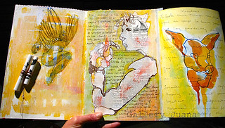 december journal page one, two and three | by Gallery Juana, Juana Almaguer