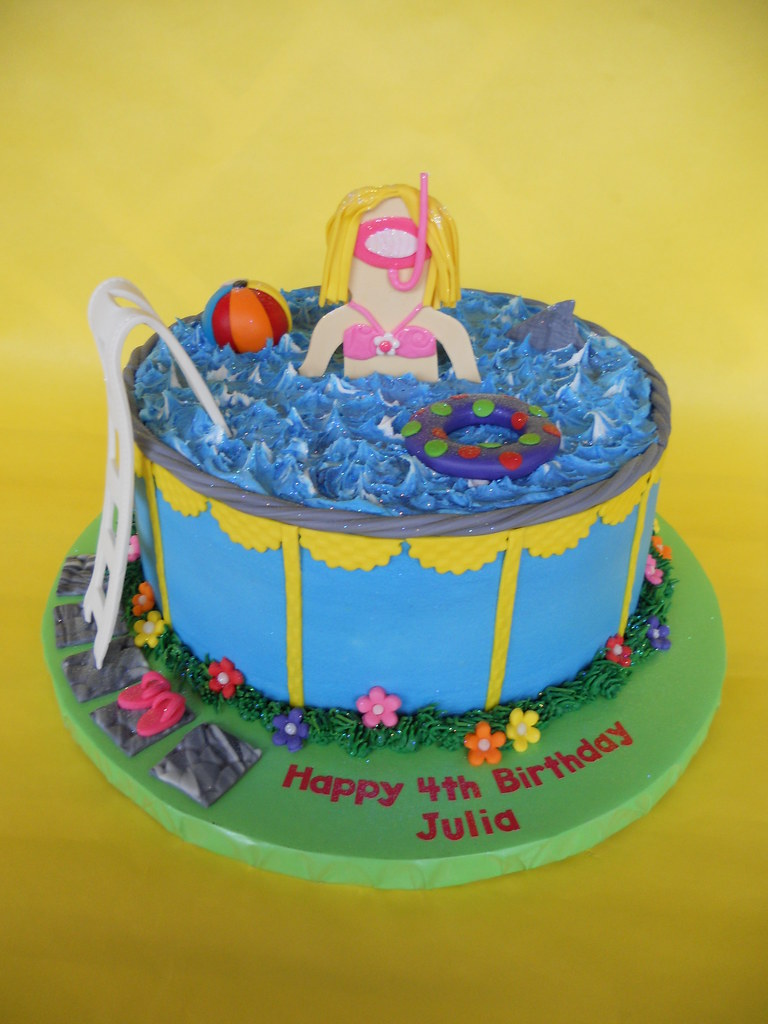 Pool Party Birthday Cake Amy Stella Flickr