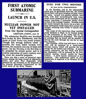 21st January 1954 - First atomic submarine launched - USS Nautilus | by Bradford Timeline
