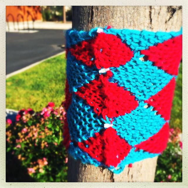 Entrelac Yarn Bomb