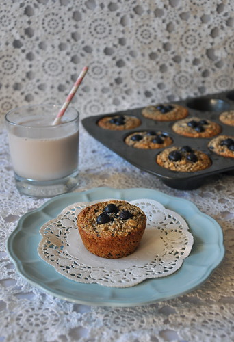 Blueberry Banana Breakfast Muffins | by House of Lane
