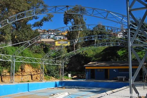 Piscina de complejo municipal j araya de forestal vive su for Construccion piscina temperada