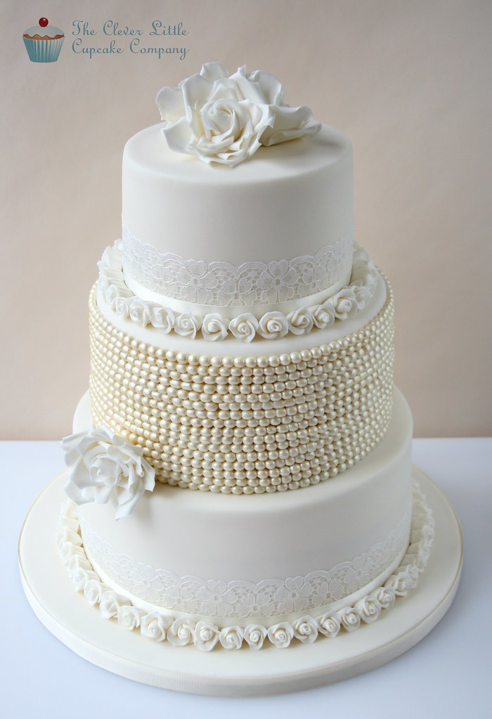 Vintage Lace Pearl Wedding Cake Yet Another Recreation O Flickr