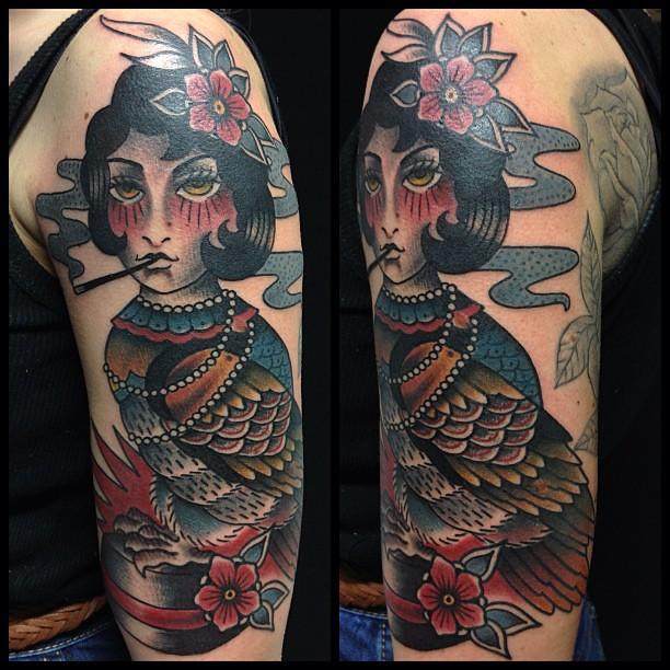 Pin-up civetta tatuaggio traditional by Dap Skingdom Tatto… | Flickr