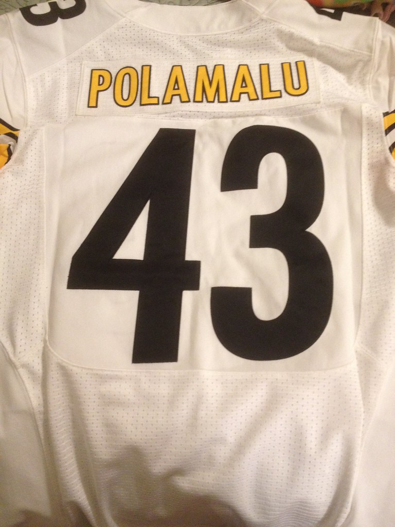 pretty nice 7b40a 0ac63 2013 Pittsburgh Steelers Authentic Away Jersey Troy Polama ...