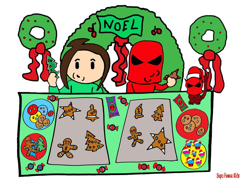 Super Pee Wee Kids Christmas Cookies Santa Cartoon Cupcake… | Flickr
