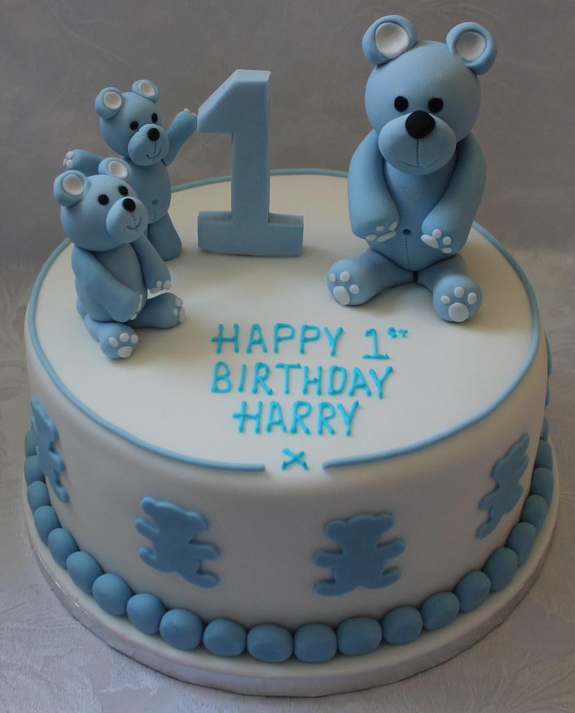 Teddy Bear Birthday Cake Pauls Creative Cakes Flickr