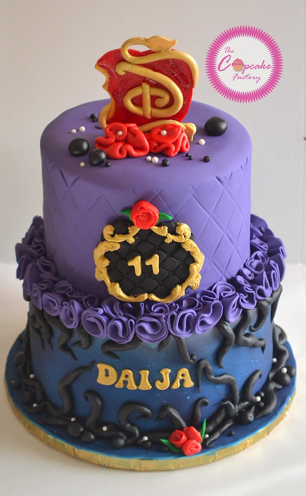 Disney Descendants Cake The Cupcake Factory Barbados Flickr