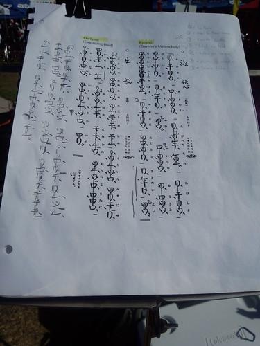 how to read shakuhachi notation