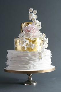 Gold Leaf Cake Decorating