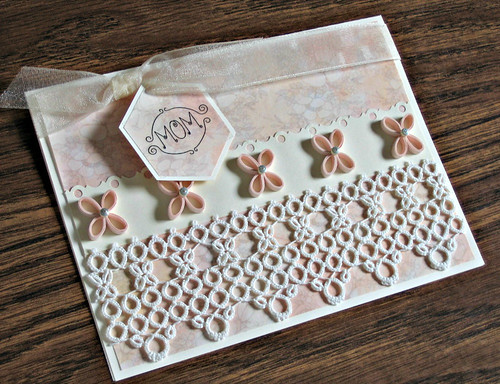 Quilled Mother's Day Card with Lace Decoration