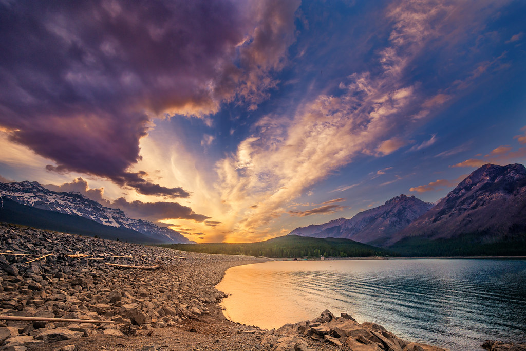 Image result for sunset over rockies