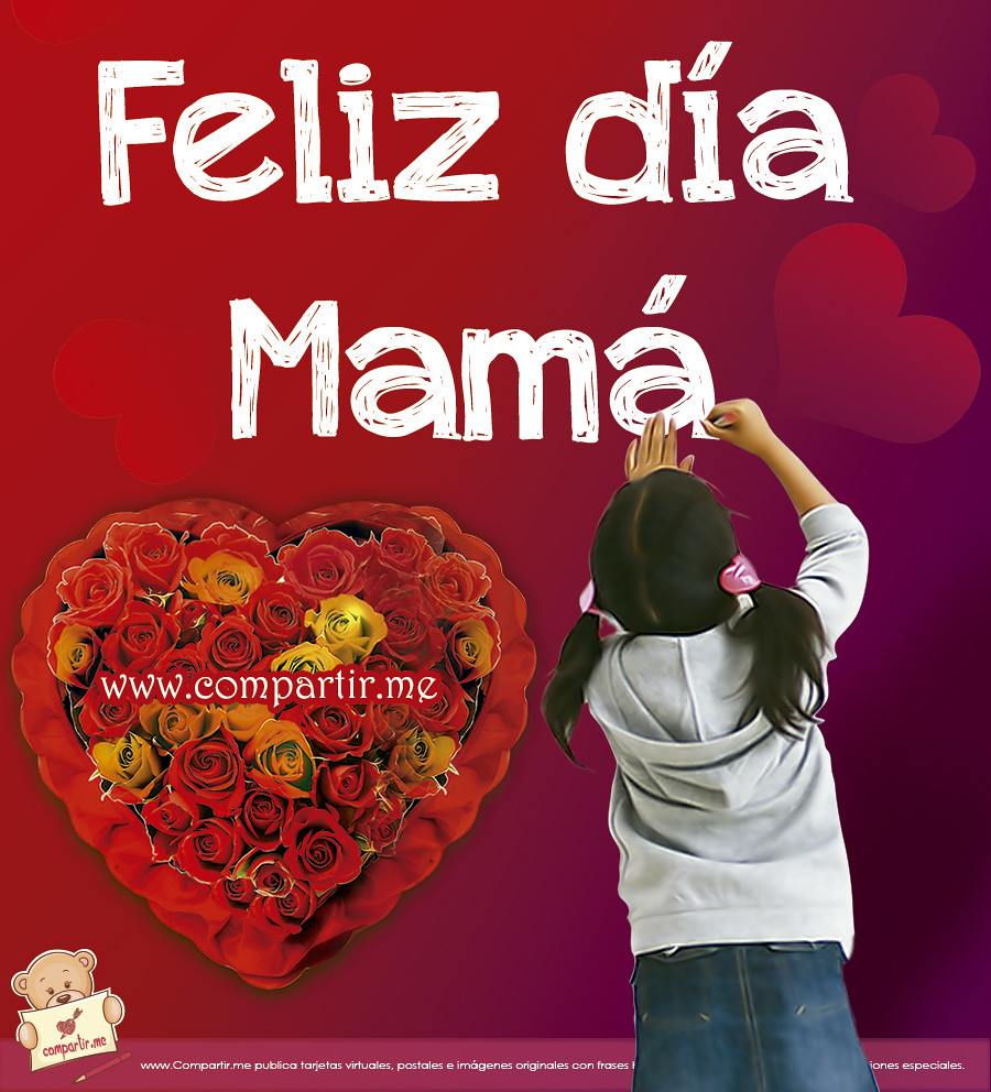 Frases De Amor Feliz Dia Mama Bonita Imagen Para El Mur Flickr