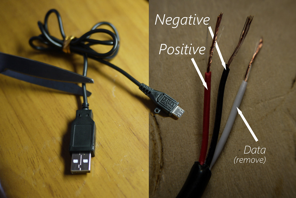 Micro USB inner wire colors (positive, negative, data) | Flickr