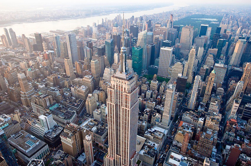 Empire State Building Midtown Aerial