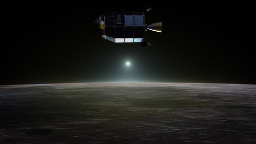 LADEE Above Lunar Sunset Artist's Concept | by NASA Goddard Photo and Video