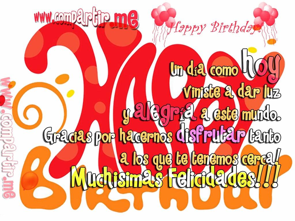 Frases De Amor Tarjeta De Cumpleanos Para Mi Amigo Amiga Flickr