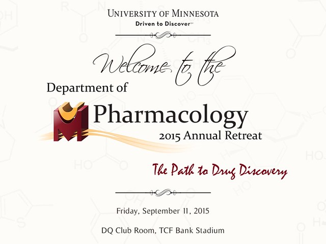 Department of Pharmacology - 2015 Retreat