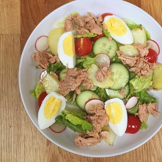 Sort-of Niçoise salad for a sort-of summer day | by louise_using_spoons