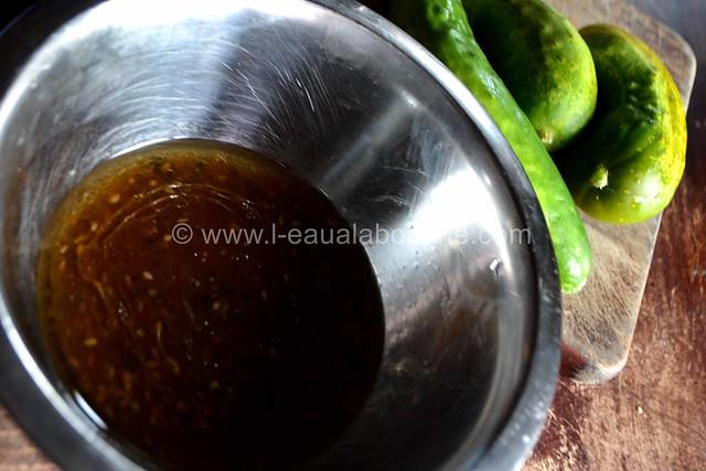 Salade de Concombres et Cornichons Marinés © Ana Luthi Tous droits réservés 8