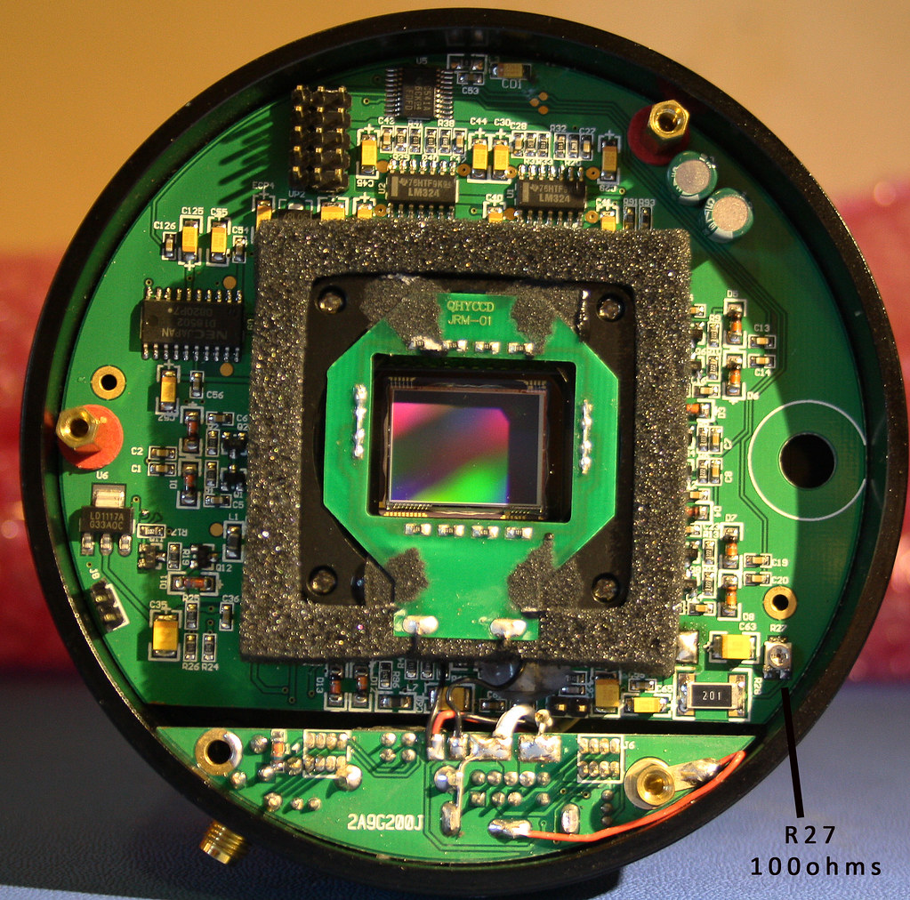 Qhy9 Mono Printed Circuit Board Inside If You Lift Off The Flickr Circuitboardtablejpg By Allans Astro Photos